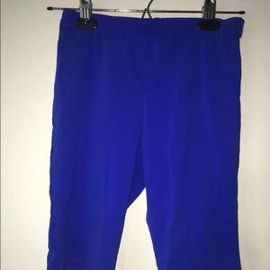 Fashion Nova royal blue biker short spandex set XS